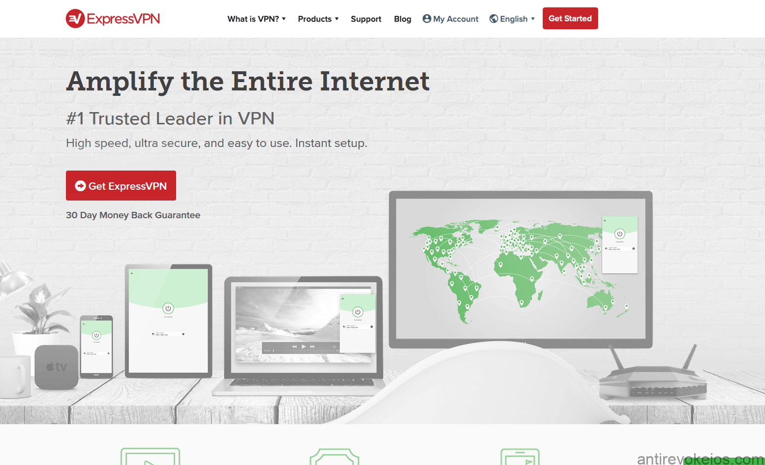 ExpressVPN for iOS and iPhones review - homepage