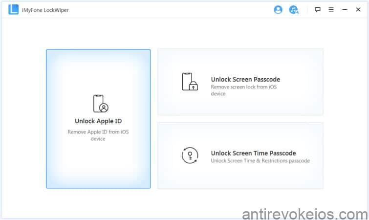 how to remove apple id password again using imyfone lockwiper